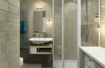 Красивая ванная с интересным дизайном