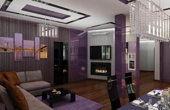 Стильня гостиная с диваном