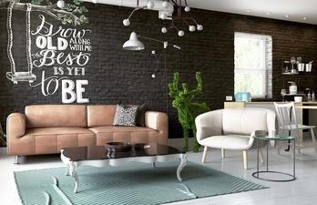 Гостиная со светлым полом и потолком