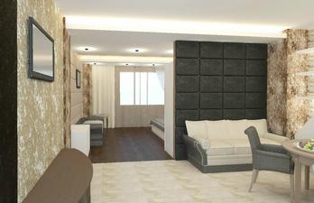 Светлая комната с небольшим диваном