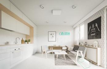 Красивая белая комната для гостей