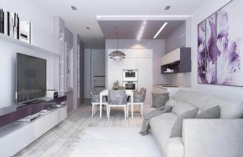 Светлая комната с удобным диваном