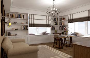 Светлая комната с двумя окнами