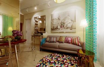 Комната для гостей с обеденной зоной
