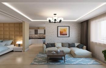 Комната в современном стиле со спальным местом