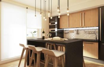 Кухня с высоким столом