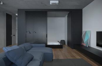 Серая комната минимализм