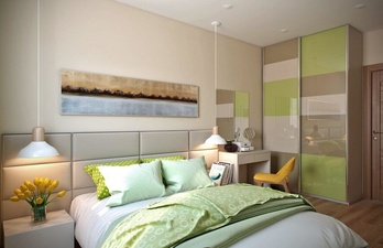 Хорошая светлая спальня