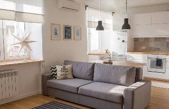 Совмещенная-кухня-с-гостиной-плюс-окнама-
