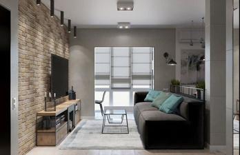 Уютная гостиная с мягким диваном