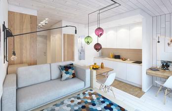 Светлая комната с гостевой зоной
