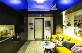 Комната со спальным местом под потолком