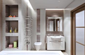 Ванная комната в светлой плитке