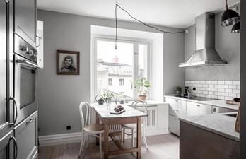 Кухня в светло-серых тонах