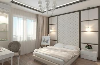 Спальня в светлых тонах с окном