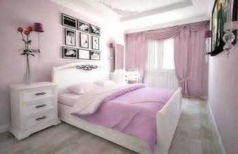 Спальня в светло-розовых тонах