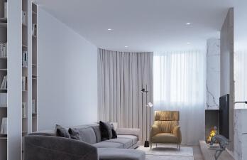 двухкомнатная квартира с камином