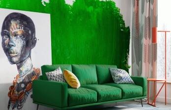 зал с диваном