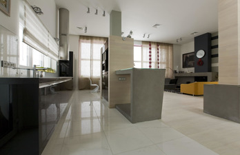 Кухня + гостиная