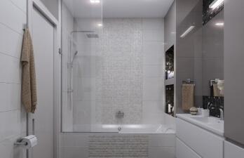 ремонт туалета в белом цвете