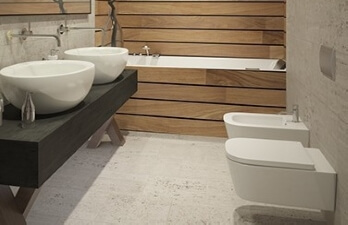 туалет в стиле минимализм